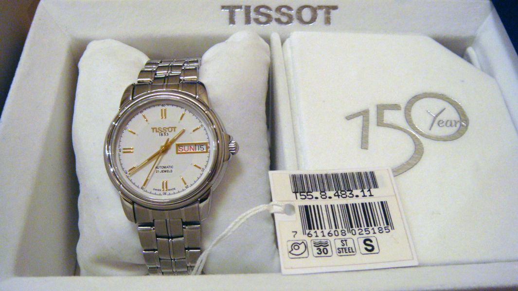 Tissot seastar 1853 automatic 21 jewels