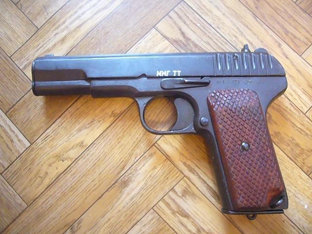 Пистолет тт- эксклюзивы. 43 год номер 4343 и 44 год деревянн.