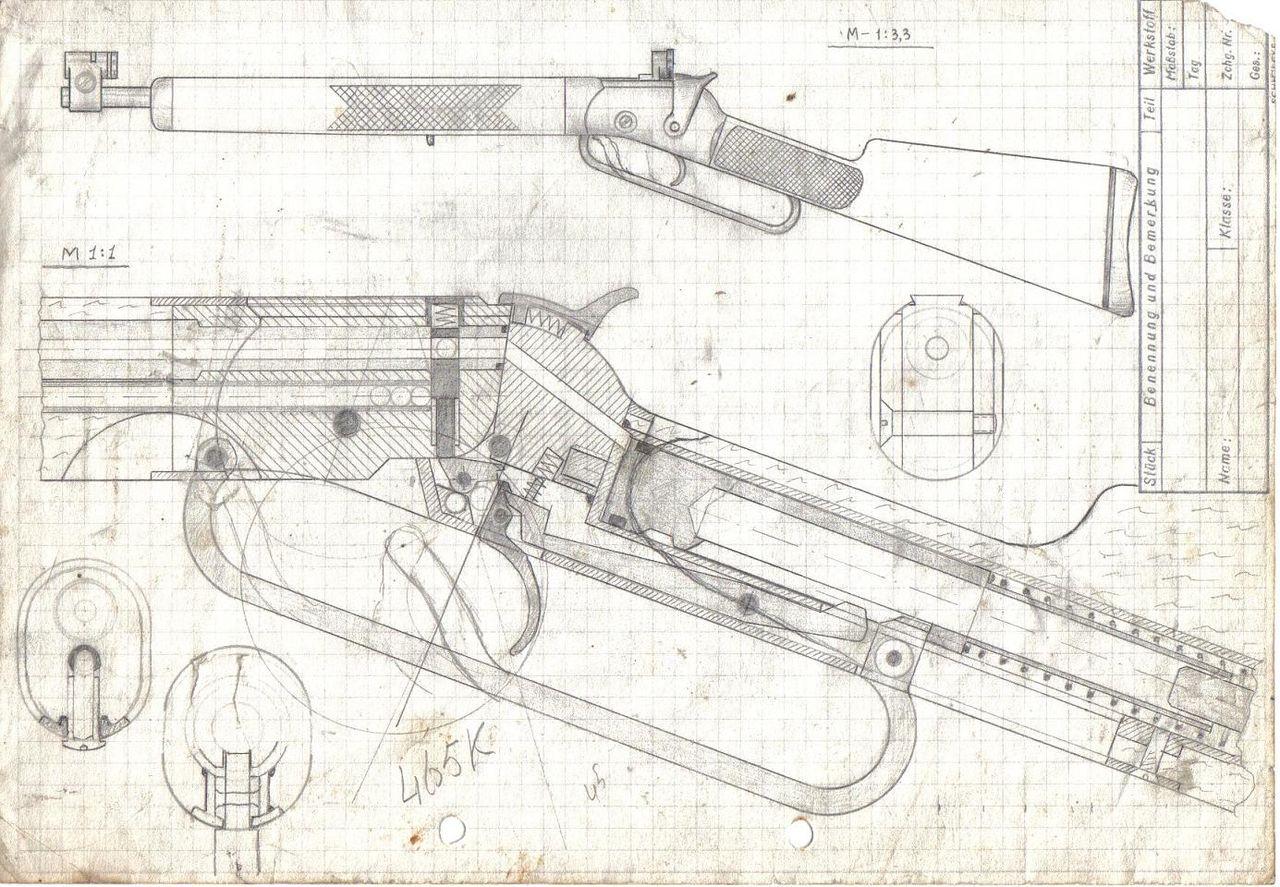 Чертеж арбалета пистолетного типа своими руками6