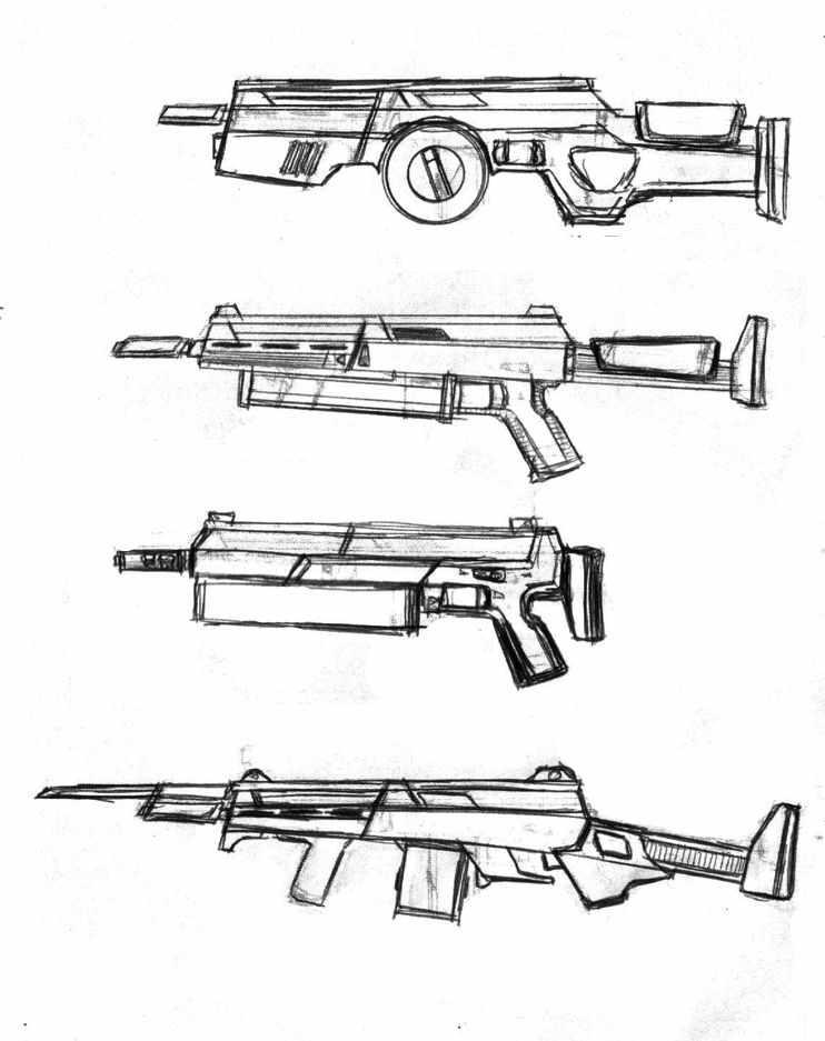 Картинки оружия рисовать не сложно