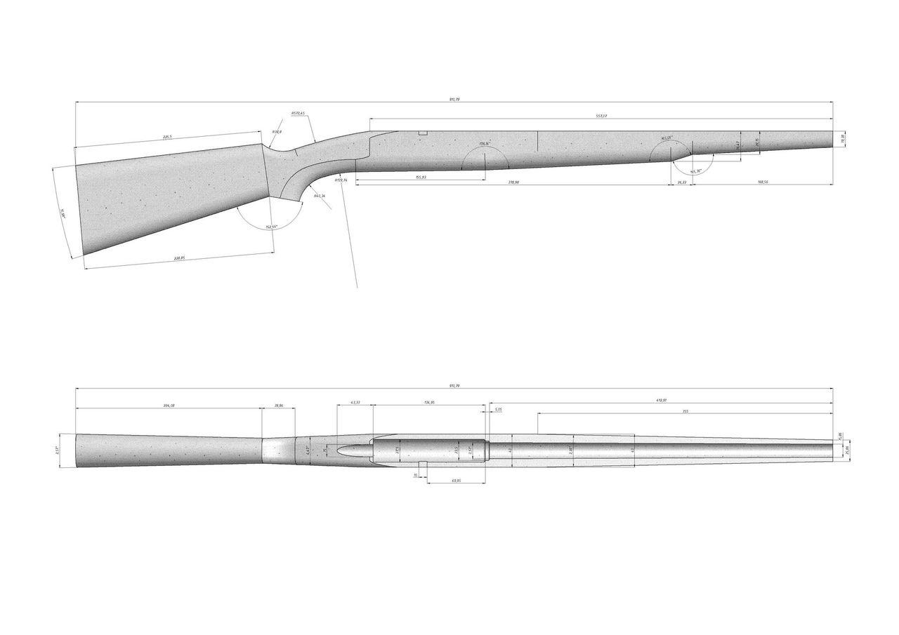 Как сделать чертеж оружия