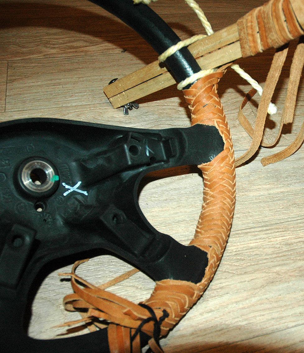 Плетение на руль своими руками