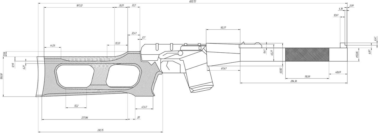 Как сделать приклад для ружья своими 331