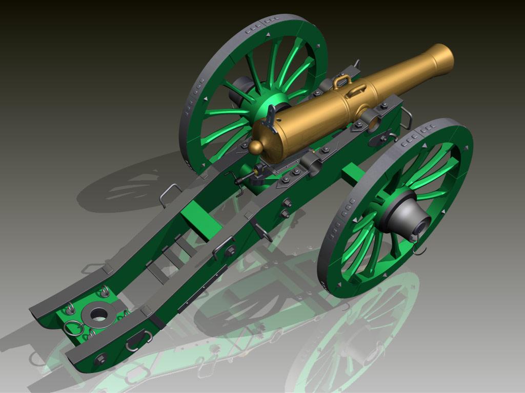 Макеты пушек времен войны 1812 года своими руками 6