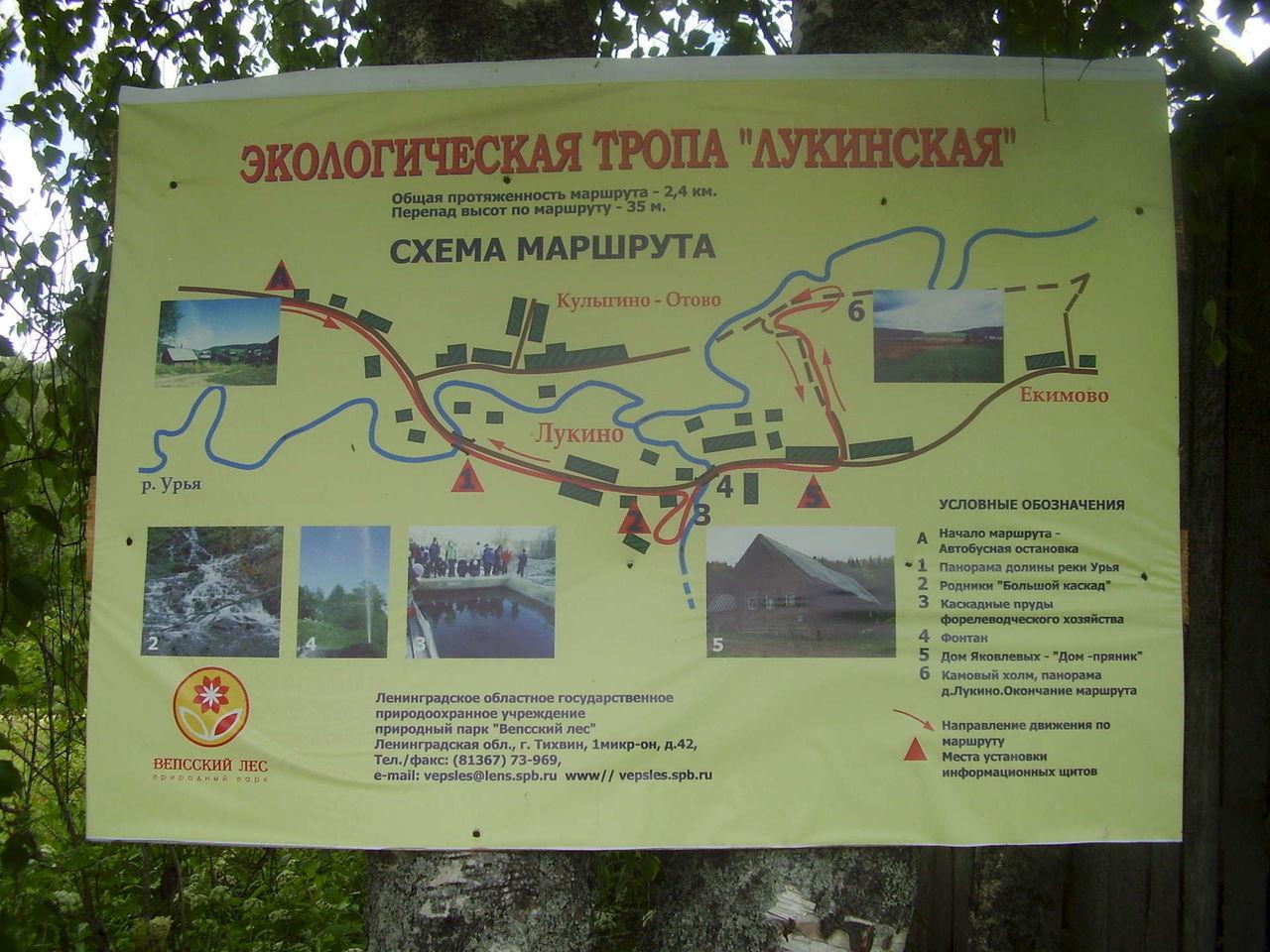 Схема экскурсии