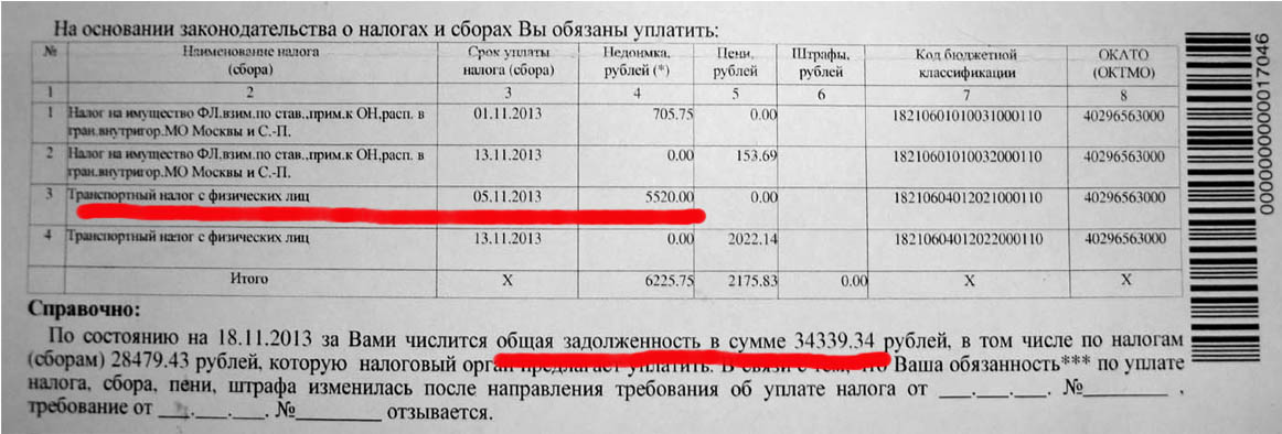 должны почему не приходят письма из налоговой 2016 торговый представитель