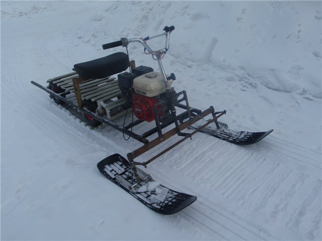 Как сделать своими руками гусеницу на снегоход