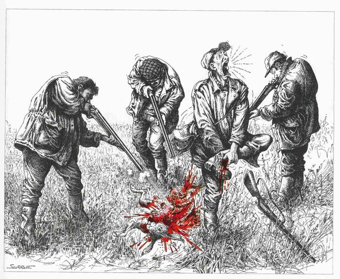 рисунки про охоту смешные место