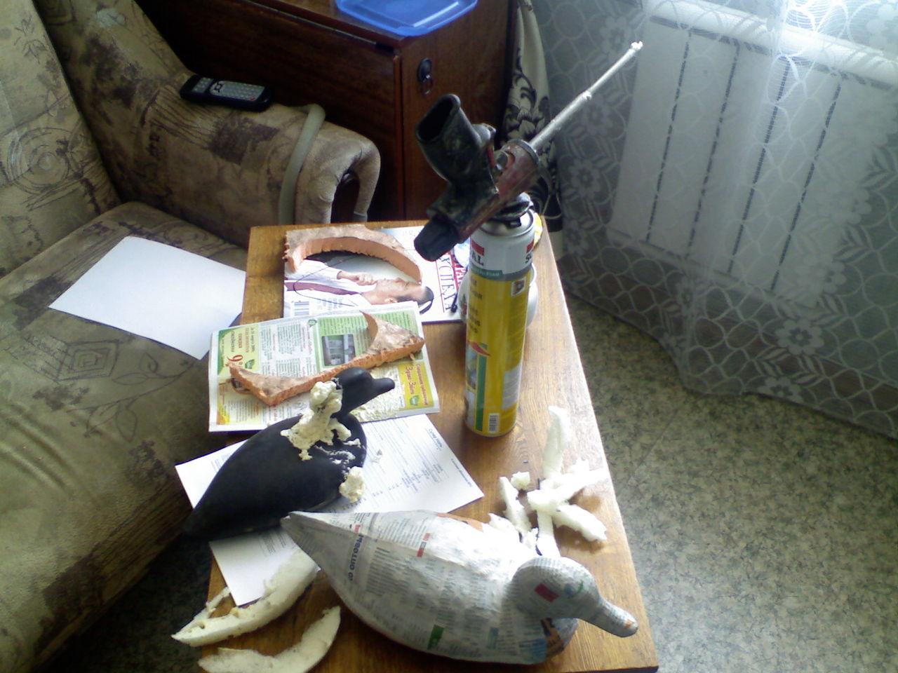 Как сделать чучело для охоты на утку