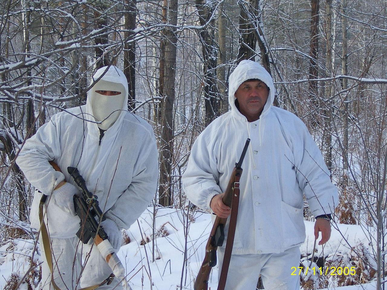 Белые Зимние Охотничьи Костюмы