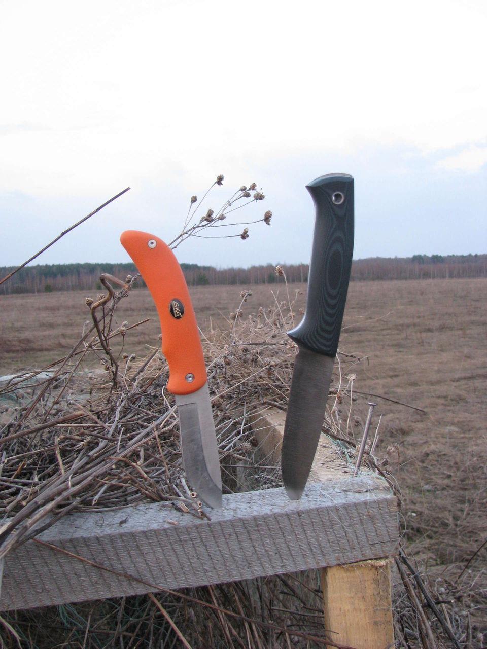 Нож в полевых условиях своими руками