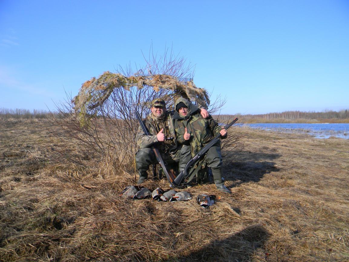 Как сделать засидку для охоты на уток