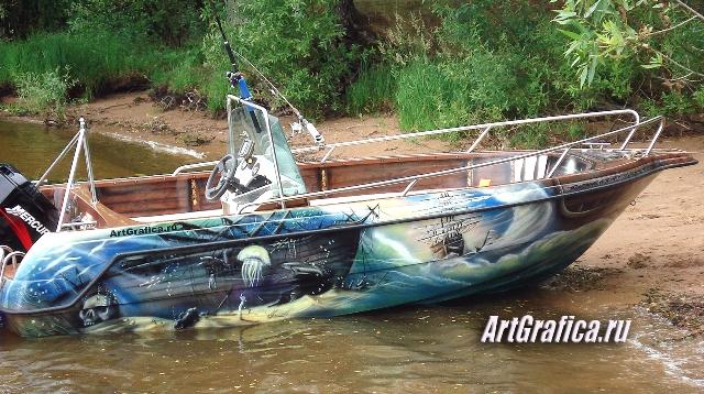 рисунки на борт лодки и катера