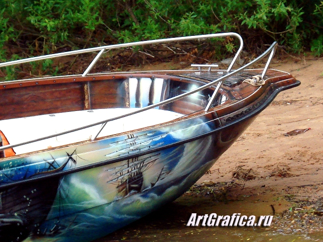 рисунки на лодках и катерах аэрография фото