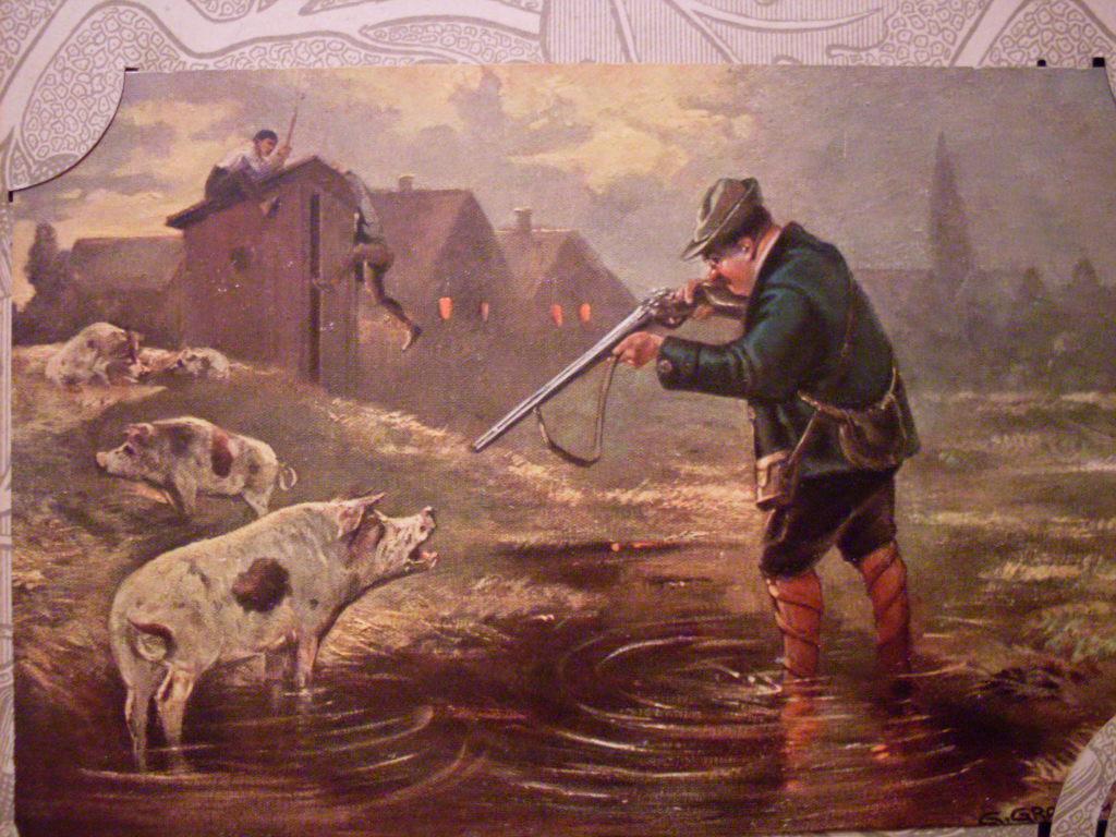 Открытки охота