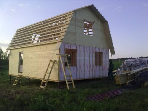Крыша второго этажа своими руками фото