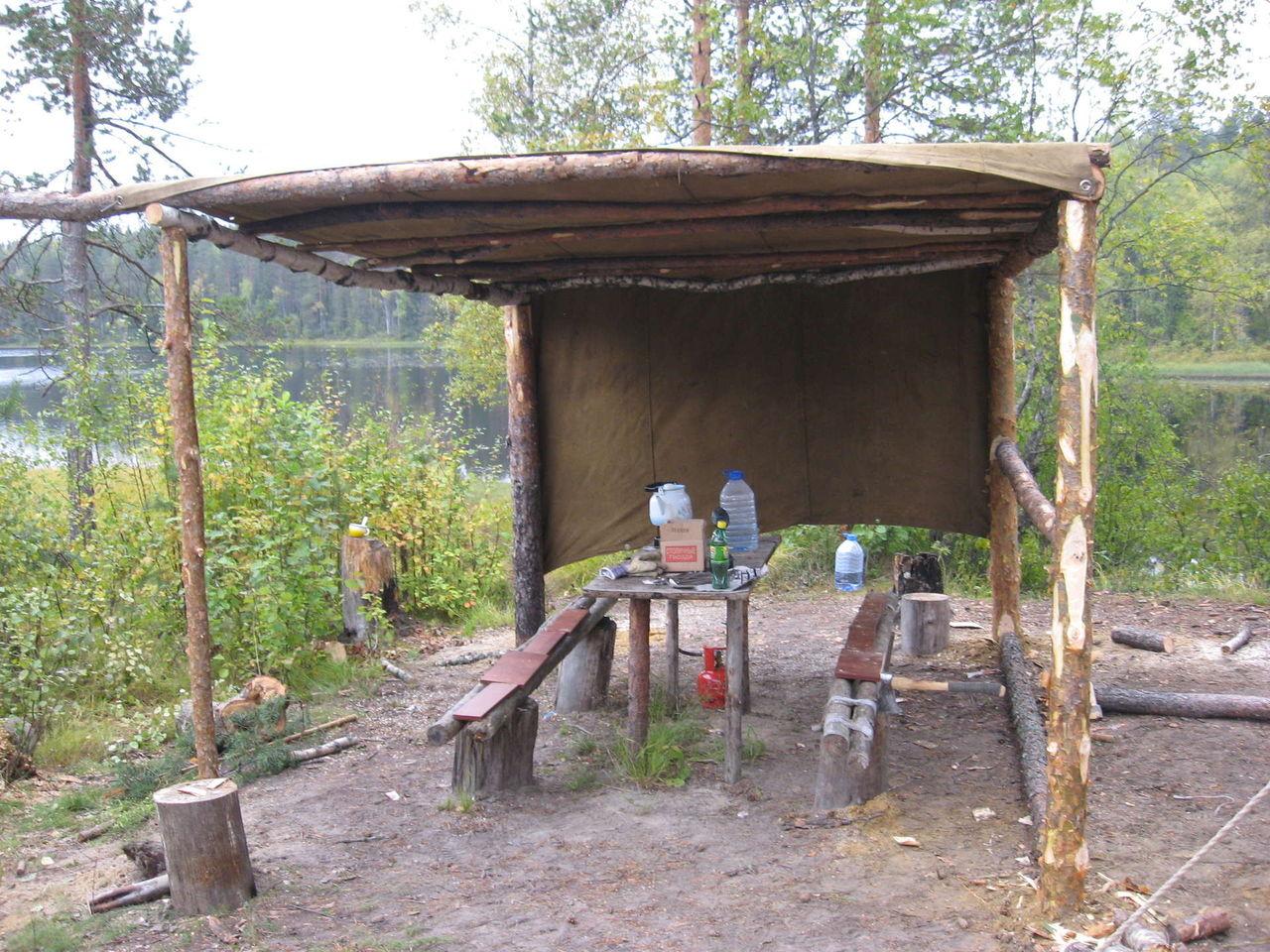 Как построить шалаш в лесу своими руками Построить шалаш 19