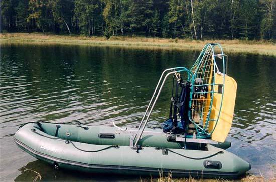 воздушная установка на лодку