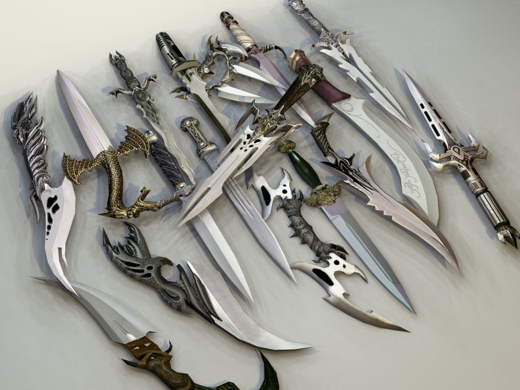 фото белые картинки ножей и мечей боги