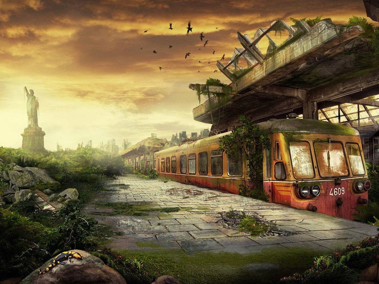 Красивые картинки постапокалипсис