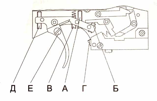 схему УСМ пистолета ИЖ-46