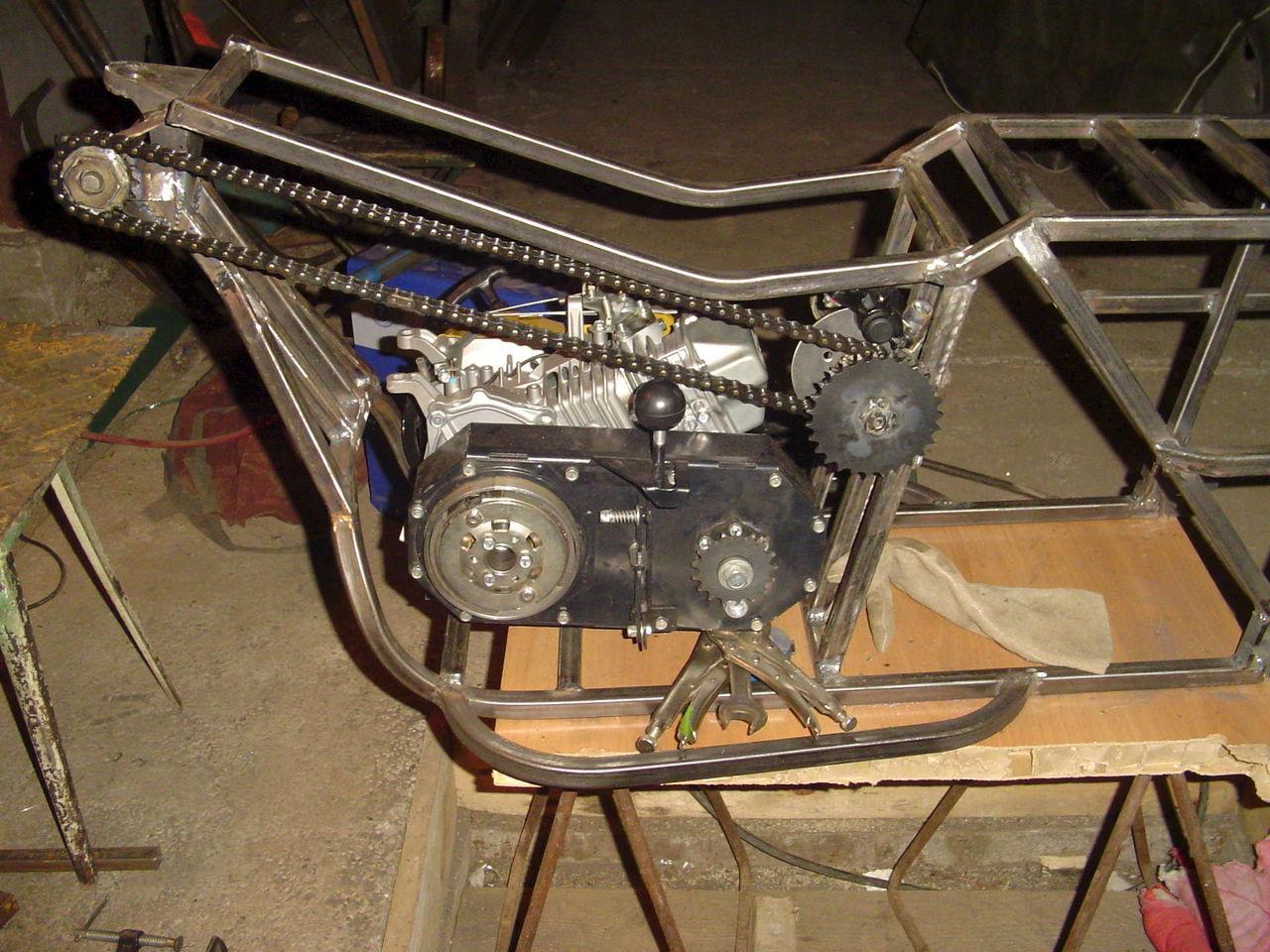 Как своим руками сделать мотоцикл 585