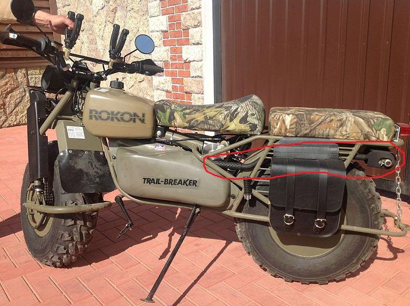 Полноприводный мотоцикл с двигателем
