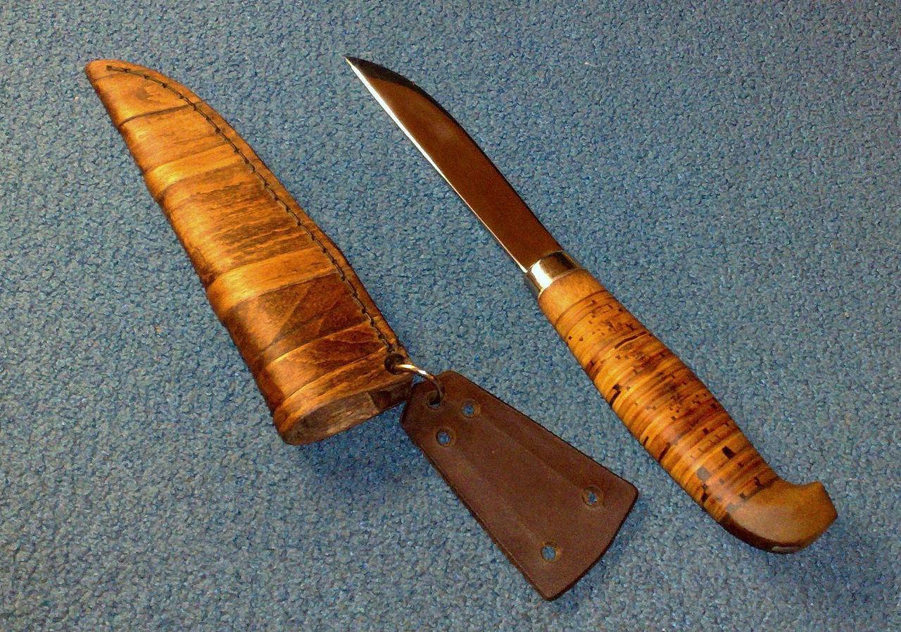 Изготовление рукоятки для ножей из бересты