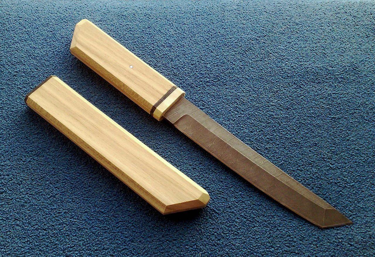 Нож танто своими руками фото