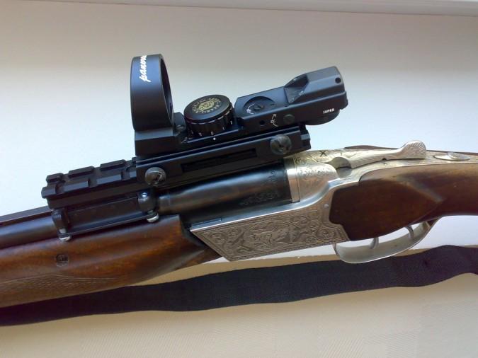 """Обрез малокалиберной винтовки с оптическим прицелом  """"ТОЗ-8 """" калибра 5,6 мм вместе с заряженным патроном изъяли..."""