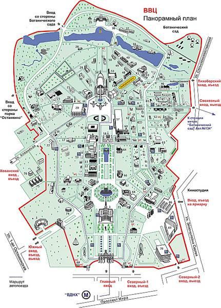 Карта ВВЦ - Adobe Illustrator