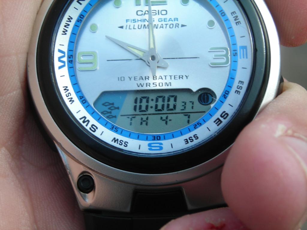 часы для рыбалки casio fishing gear