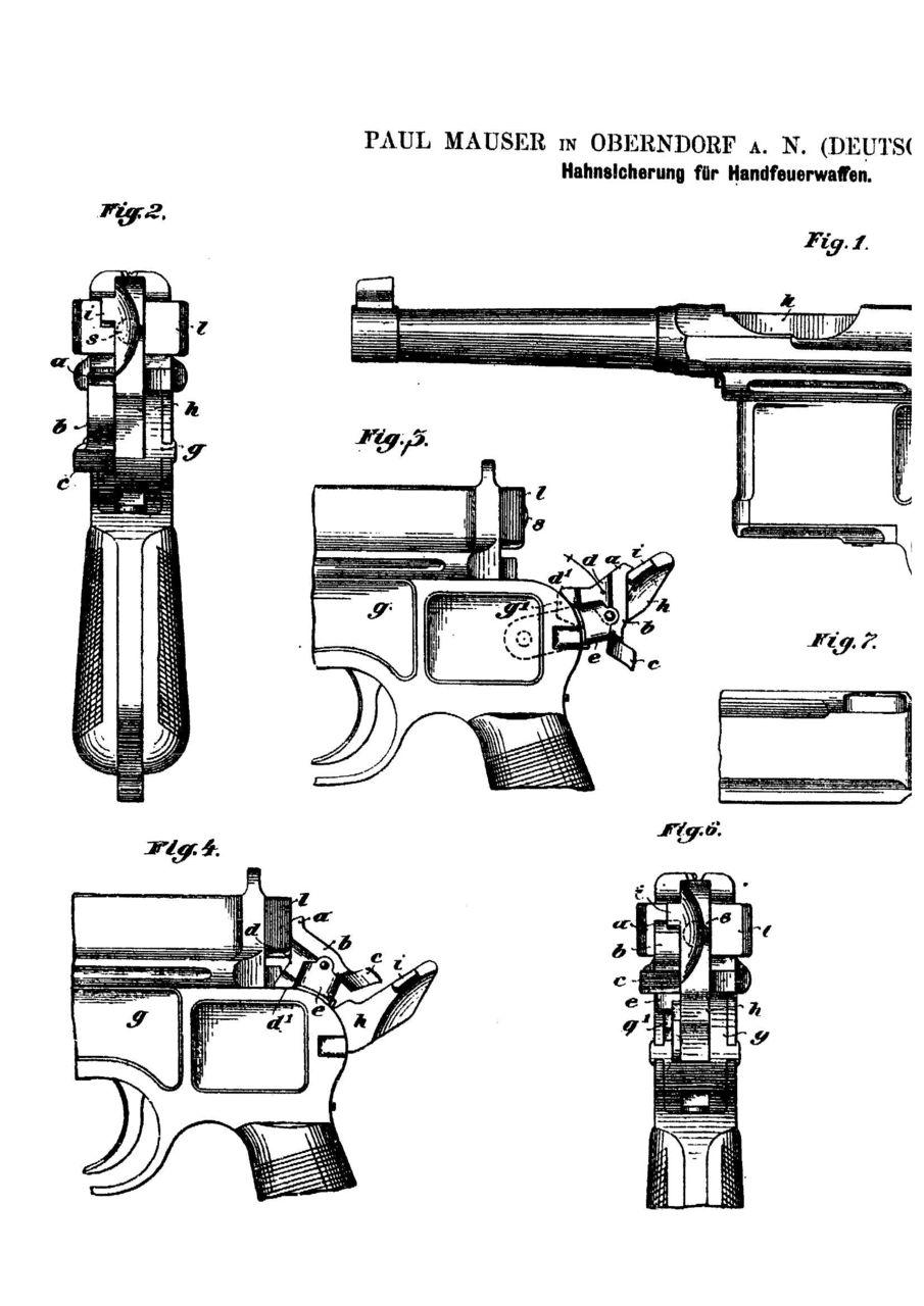 Чертежи пистолета маузер с 96