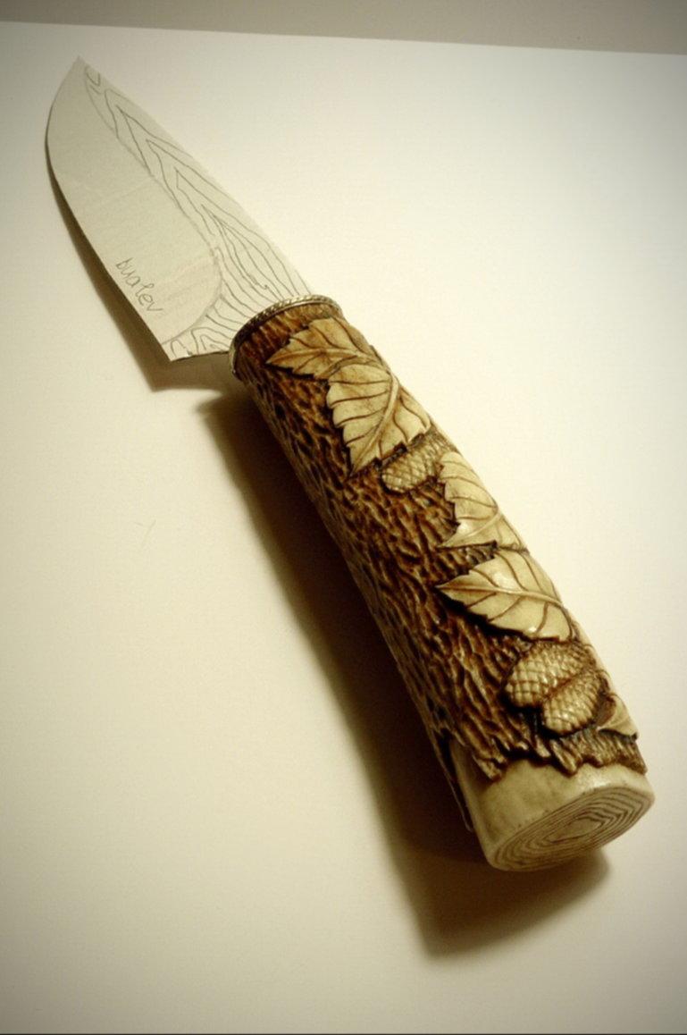 фото резные ручки для ножей из дерева связанно тем, что