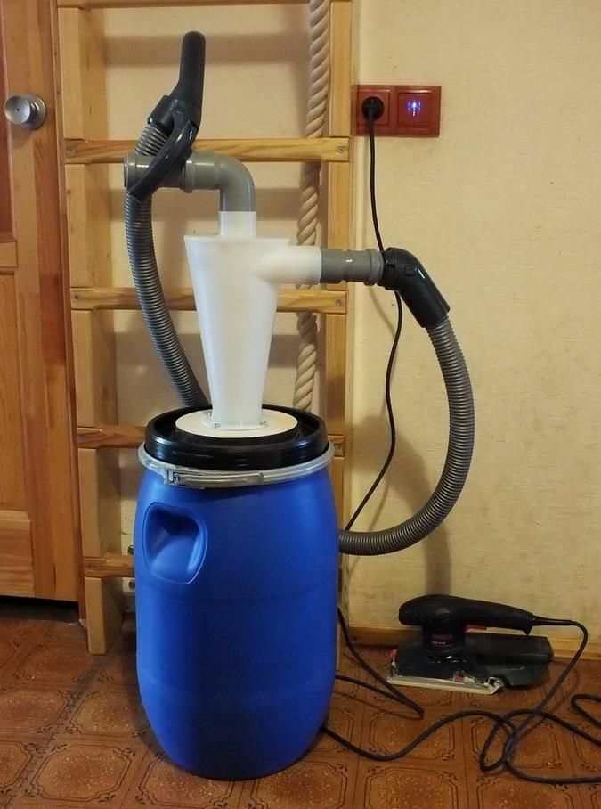 Как сделать строительный пылесос