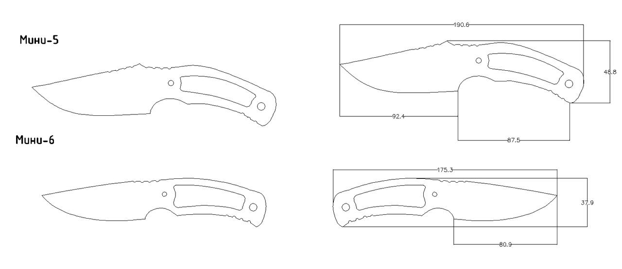 Как сделать нож керамбит чертёж 415