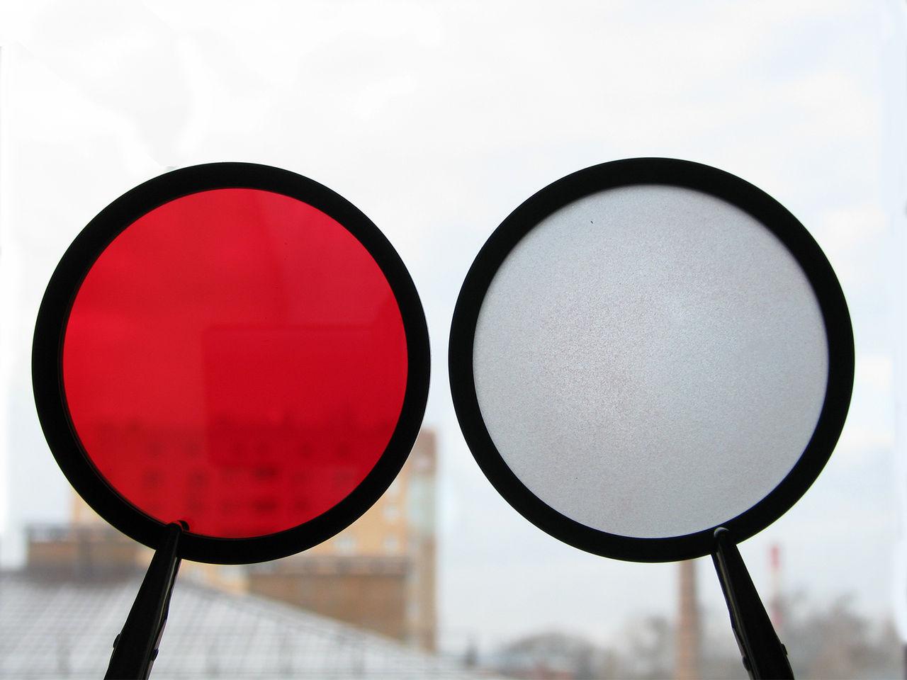 Красный светофильтр своими руками