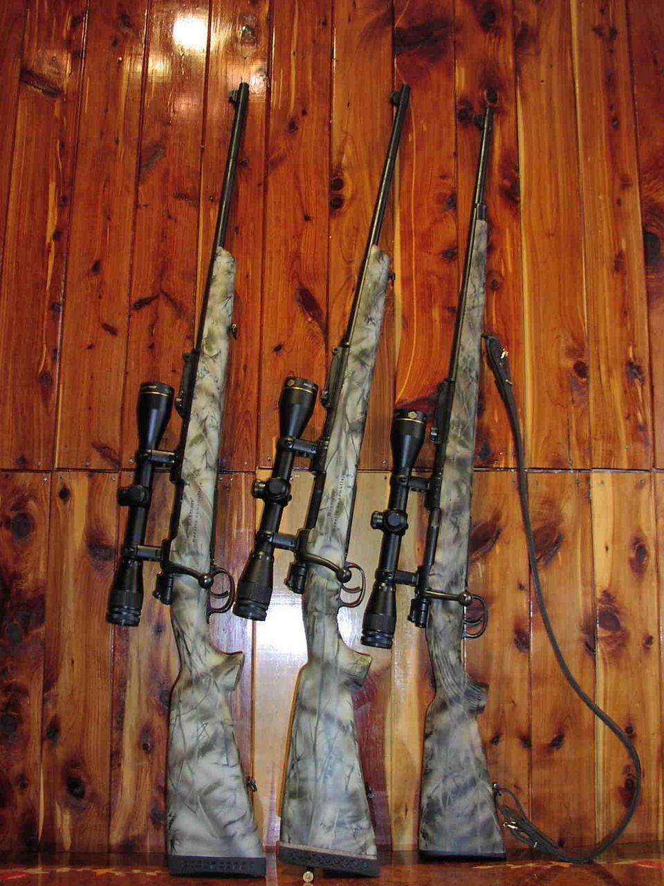 Камуфляж для ружья своими руками