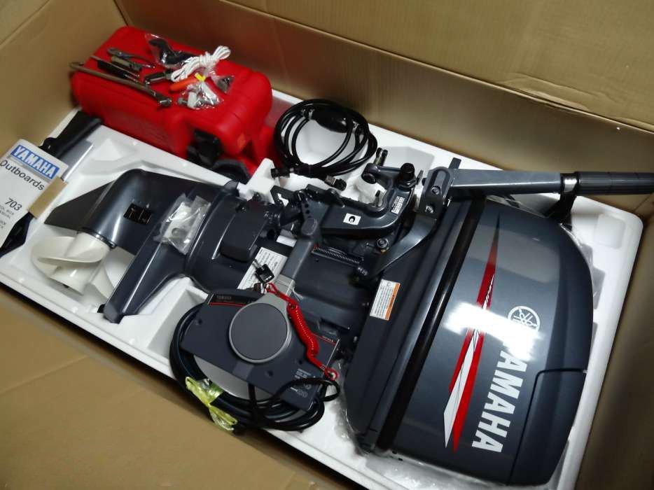 лодочный мотор в упаковке