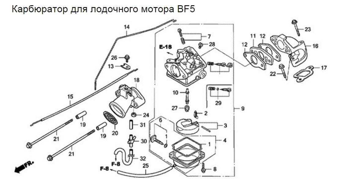 настройка карбюраторов хонда 50 лодочный мотор