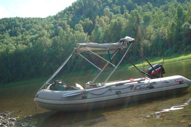 установка тента кабриолет на лодку видео