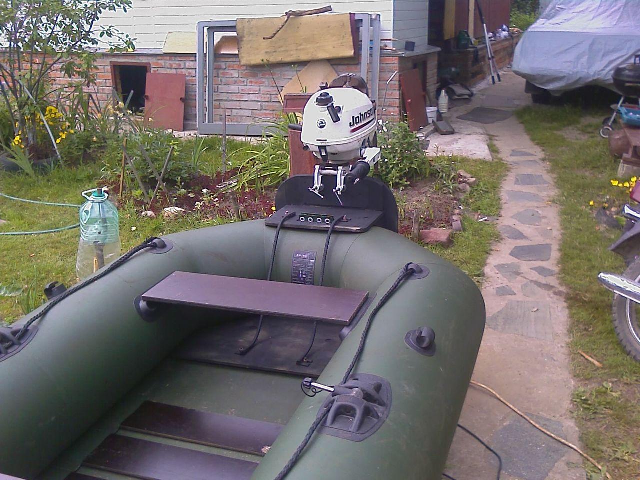 транец для надувной лодки видео