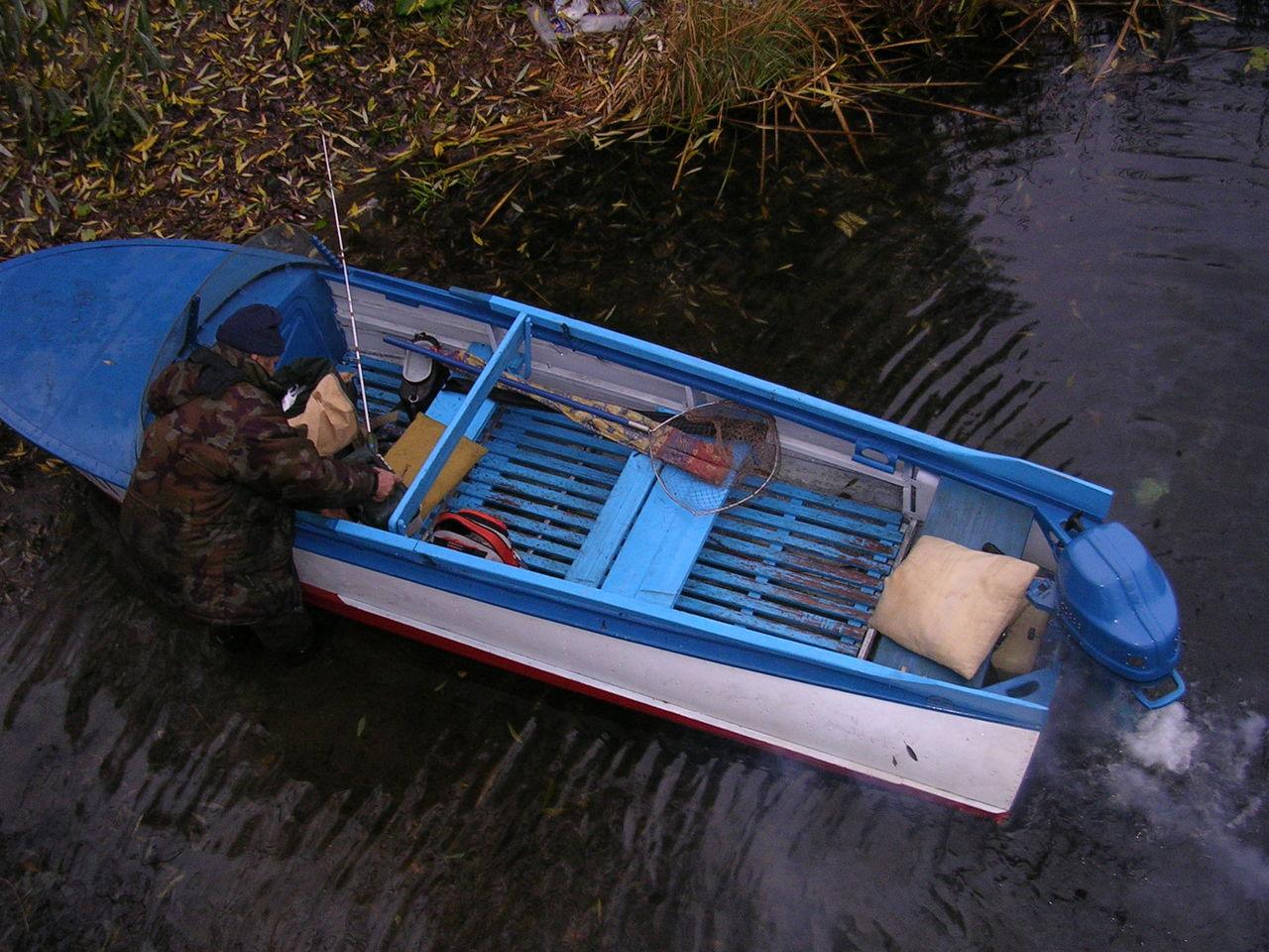 алюминиевая лодка и ветерок 8