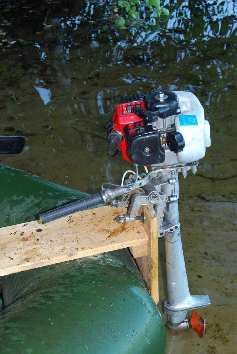 мотор из бензопилы урал 2 на лодочный мотор
