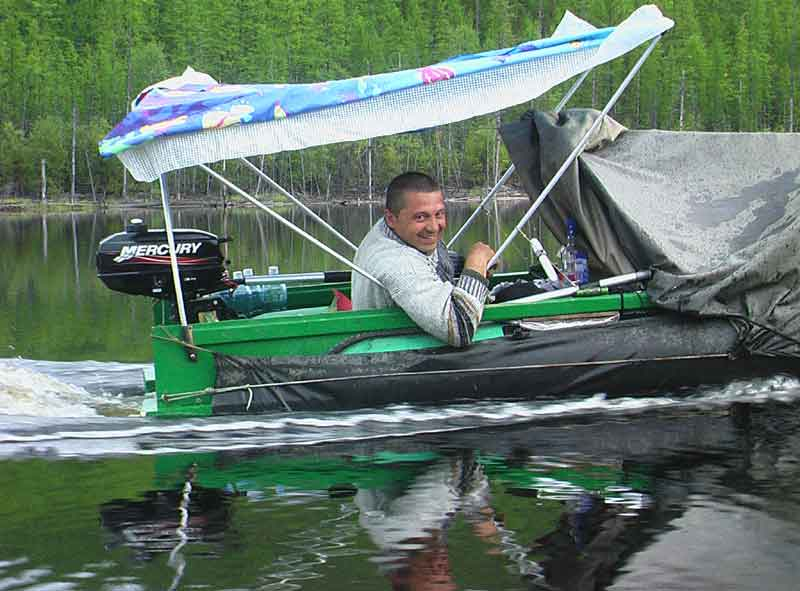 поднять транец на лодку пвх своими руками