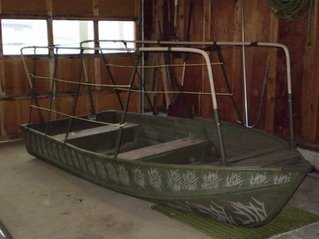 Как сделать скрадок на лодку
