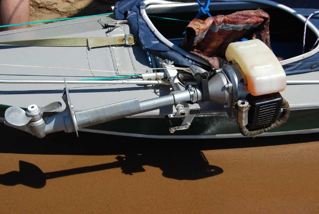 лодочный мотор с мотором от триммера
