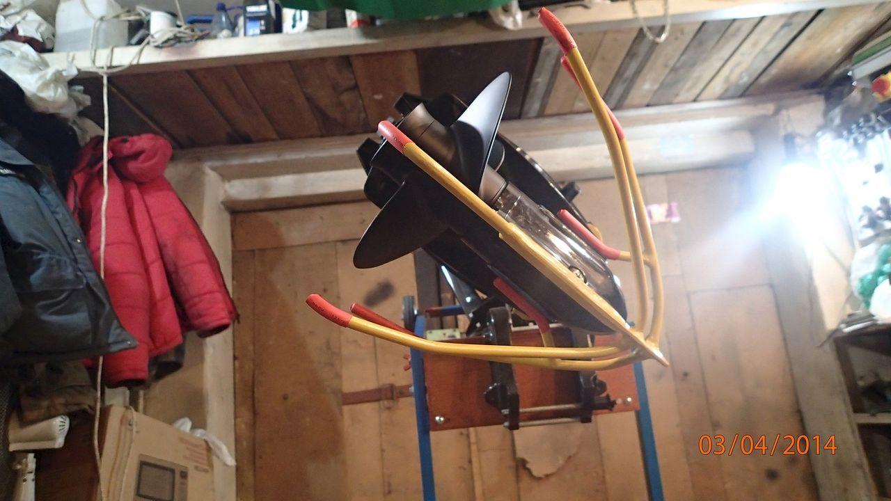 демпфер удара на лодочный мотор