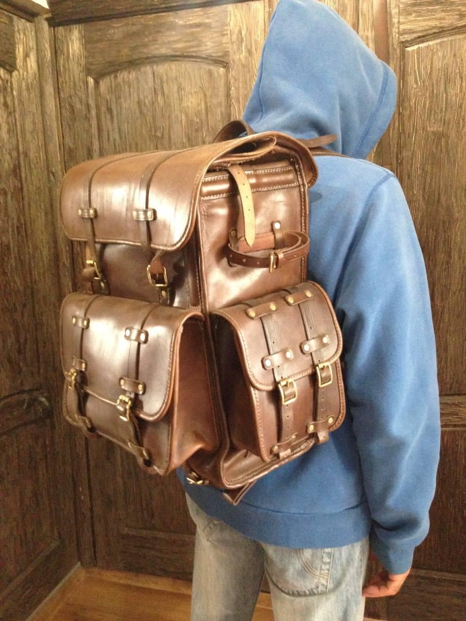 Как сделать кожаный рюкзак своими руками 12