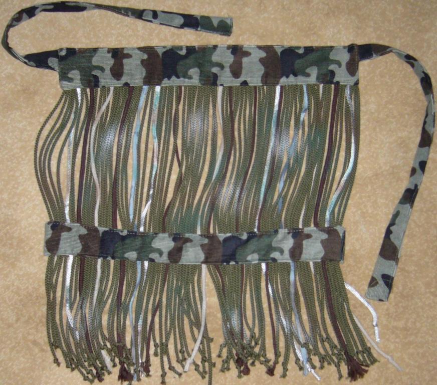 Изготовка БАХРОМЧАТОЙ МАСКИРОВОЧНОЙ МАСКИ. (цвет, нить, полоса, ткань, шнур